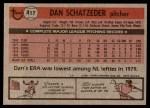 1981 Topps #417  Dan Schatzeder  Back Thumbnail