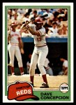 1981 Topps #375  Dave Concepcion  Front Thumbnail