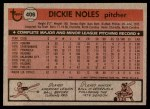1981 Topps #406  Dickie Noles  Back Thumbnail