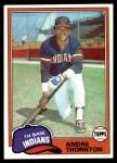 1981 Topps #388  Andre Thornton  Front Thumbnail