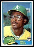 1981 Topps #364  Mike Davis  Front Thumbnail