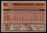 1981 Topps #439  Dennis Walling  Back Thumbnail