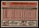 1981 Topps #369  Frank Tanana  Back Thumbnail