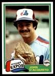 1981 Topps #427  John D'Acquisto  Front Thumbnail