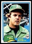 1981 Topps #503  Steve McCatty  Front Thumbnail