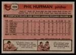 1981 Topps #506  Phil Huffman  Back Thumbnail