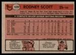 1981 Topps #539  Rodney Scott  Back Thumbnail