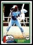 1981 Topps #539  Rodney Scott  Front Thumbnail