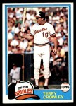 1981 Topps #543  Terry Crowley  Front Thumbnail