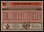 1981 Topps #505  Jason Thompson  Back Thumbnail