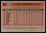1981 Topps #542  Larry Bradford  Back Thumbnail