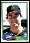 1981 Topps #454  Andy Hassler  Front Thumbnail