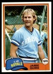 1981 Topps #507  Jamie Quirk  Front Thumbnail