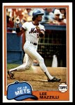 1981 Topps #510  Lee Mazzilli  Front Thumbnail