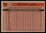1981 Topps #563  Jim Kaat  Back Thumbnail