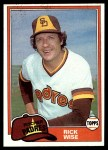 1981 Topps #616  Rick Wise  Front Thumbnail