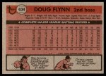 1981 Topps #634  Doug Flynn  Back Thumbnail