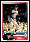 1981 Topps #614  Dave Rozema  Front Thumbnail