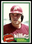 1981 Topps #598  George Vuckovich  Front Thumbnail