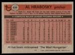 1981 Topps #636  Al Hrabosky  Back Thumbnail