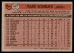 1981 Topps #567  Mark Bomback  Back Thumbnail