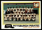 1981 Topps #683   Pirates Team Checklist Front Thumbnail