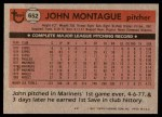 1981 Topps #652  John Montague  Back Thumbnail