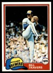 1981 Topps #704  Bill Travers  Front Thumbnail