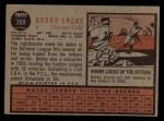 1962 Topps #359  Bobby Locke  Back Thumbnail