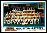 1981 Topps #678   Astros Team Checklist Front Thumbnail