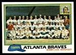 1981 Topps #675   Braves Team Checklist Front Thumbnail
