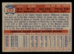 1957 Topps #192  Jerry Coleman  Back Thumbnail
