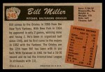 1955 Bowman #245  Bill Miller  Back Thumbnail