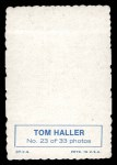 1969 Topps Deckle Edge #23  Tom Haller    Back Thumbnail