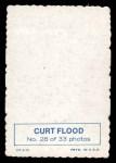 1969 Topps Deckle Edge #28  Curt Flood  Back Thumbnail