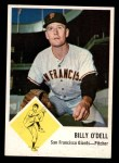 1963 Fleer #66  Billy O'Dell  Front Thumbnail