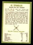 1963 Fleer #39  Al Spangler  Back Thumbnail