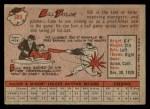 1958 Topps #389  Bill Taylor  Back Thumbnail