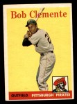 1958 Topps #52 WT Roberto Clemente  Front Thumbnail