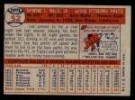 1957 Topps #52  Lee Walls  Back Thumbnail