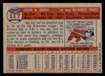 1957 Topps #117  Joe Adcock  Back Thumbnail