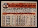 1957 Topps #172  Gene Woodling  Back Thumbnail