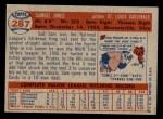 1957 Topps #287  Sam Jones  Back Thumbnail