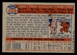 1957 Topps #259  Eddie O'Brien  Back Thumbnail