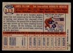 1957 Topps #115  Jim Gilliam  Back Thumbnail