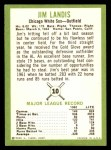 1963 Fleer #10  Jim Landis  Back Thumbnail