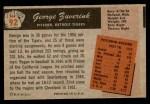 1955 Bowman #92  George Zuverink  Back Thumbnail