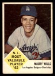 1963 Fleer #43  Maury Wills  Front Thumbnail