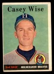 1958 Topps #247  Casey Wise  Front Thumbnail