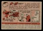 1958 Topps #379  Ray Herbert  Back Thumbnail